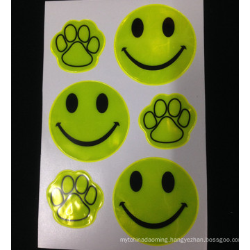 Promoitonal cute guide footprint good self-adhesive prism reflective sticker for supermarket