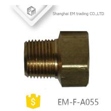 EM-F-A055 Tetina de unión de tubería de presión de unión hembra y macho de latón