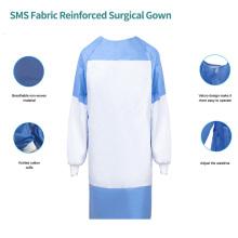 Bata quirúrgica reforzada con tela SMS
