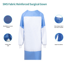 Blouse chirurgicale renforcée en tissu SMS