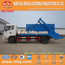 DONGFENG 8cbm 170hp 4x2 swinging arm garbage truck skip loader garbage truck factory direct hot sale in China