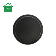 Cast Iron Steak Plate Sizzling with Wooden Base Cooking Plate