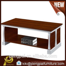 Latest design MDF melamine coffee tea table for wholesale