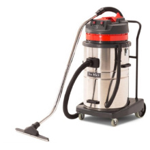 220V/110V 2 motor 2000W 70l red colour large rubber wheel plate wet and dry vacuum cleaner for commercial Industrial cleaning