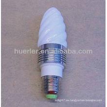 Bombillas de luz diurna b22 llevó candelabro color cambiando la lámpara