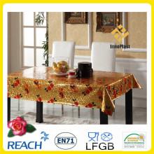 Виниловая пластиковая Крышка стол с золотой накладкой