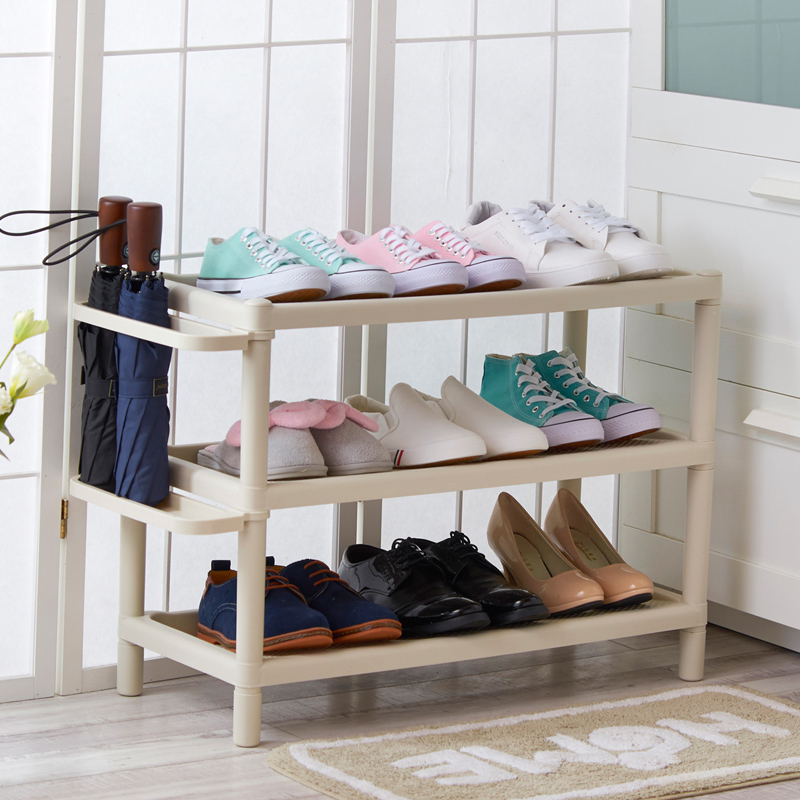 Plastic shoe rack in living room