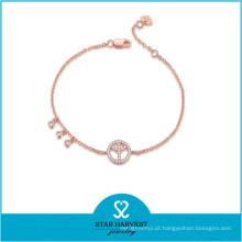 Mais novo brinco de prata moda e pulseira de mulheres para o Natal (B-0021)