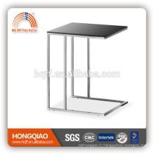 ET-24 verre / placage table basse bois