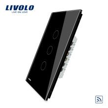Commutateur de lumière tactile mural à distance sans fil 1 voie US Livolo US Power 3 voies VL-C503R-12