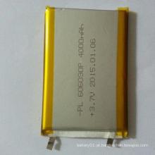 606090 Bateria recarregável Lipol de 3.7V 4000mAh