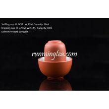 Chinês Zisha Clay Cor Vermelha Bebendo * copos Sniffing, 50ml e 20ml
