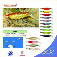 MNL060 barato equipamento de pesca minnow isca de pesca de plástico isca de combinação