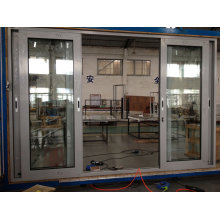 Thermal Break Aluminum Sliding Door with Mesh