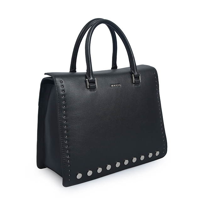 Weave Pattern New Fashion Real Leather Office Bags