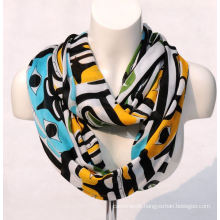 Women′s Bamboo Printing Spring Autumn Summer Woven Beach Cover Shawl Scarf Loop Snood (SW124)
