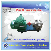 Pompe à engrenages hydraulique commerciale à pompe à engrenages en acier inoxydable 304 KCB 300 dans des pompes