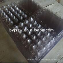 Plateau d'oeufs de caille en plastique 24 cellules