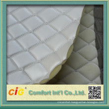artificial leather with foam backing/pu sponge leather/smooth leather with flocking backing