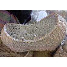 (BC-BA1005) High Quality Handmade Willow Sleep & Carry Baby Basket