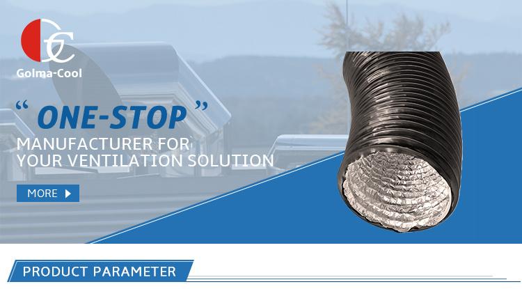 Systèmes de CVC Bonne étanchéité à l'air Feuille d'aluminium PVC laminé Flexible de conduit d'échappement de ventilation