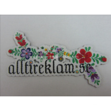 Woven Labels with Flower Shape