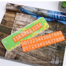 Tarjeta de aparcamiento temporal de venta caliente goma suave del pvc, PVC 2D realzado Cartelera móvil de coche