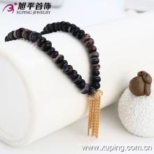Xuping cuentas de rosario 18k collar de cola de cadena de color de oro (42302)