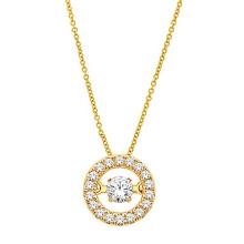 18k Gold-Tanzen-Diamant-Schmucksachen 925 silberne Anhänger