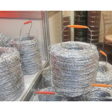 2016 bottom price!Best galvanized bared wire used for Zimbabwe market,BWG14 1/2 barbed wire 400m/800m length per roll