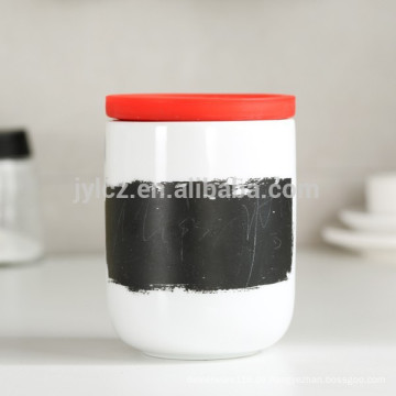 keramischer Tee-Kaffee-Kanister mit Silikondeckel,