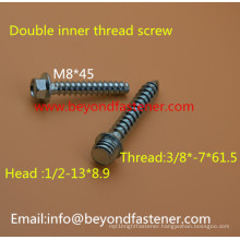 Double Inner Thread Screw