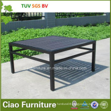 Outdoor Garden Table Furniture Patio Coffee Table with Plastic Wood