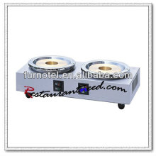 K083 2 Boilers Countertop Stainless Steel Electirc Cooks Coffee Makers