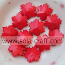 Online Wholesale Natural Gemstone Beads High Quality Beautiful Snowflake Crystal Acrylic Red Beads