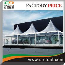 Transparent PVC 6x6m traditional marquee pavilion in aluminum Structure