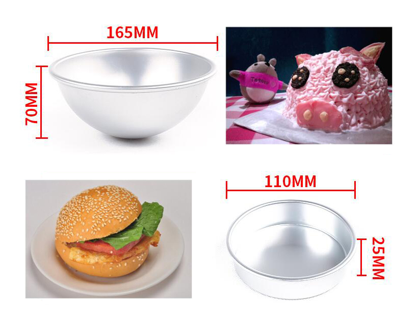 3D Aluminum Alloy Ball Sphere Cake Baking Mold16