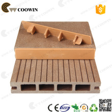 Hollow and grooved WPC board composite decking flooring