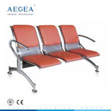 AG-TWC003 placa de acero laminado en frío de tres plazas silla de espera pública