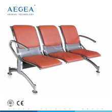 AG-TWC003 cold rolling steel plate three-seater public waiting chair