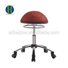 Haiyue Fábrica Novo Design Ergonômico Europeu Cadeira De Malha Vermelha cadeira de computador fezes