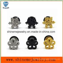 Shineme moda joyería de acero inoxidable forma de flor orejera Stud Er2918