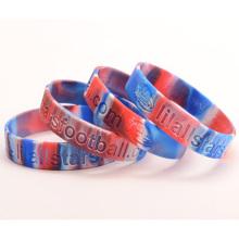 Bracelet personnalisé de haut niveau en silicone pour les adultes