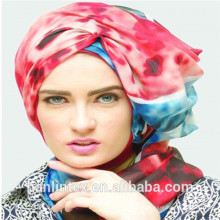 100%spun polyester voile fabric for scarf 50S\60S\80S