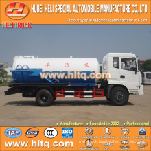 DONGFENG 4x2 10000L vacuum pump truck with vacuum pump CUMMINS 170hp