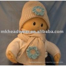 Ensemble d'écharpe en tissu tricoté bébé