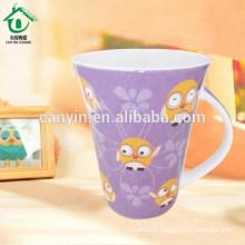 2015 Food contact safe fine thin tall porcelain mugs