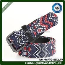 Moda New Design Belt / Male Stamp Belt / Men Wide couro genuíno em relevo Belt