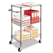 Estante del carrito de metal de la biblioteca para el libro y la revista (bk753590a2cw)