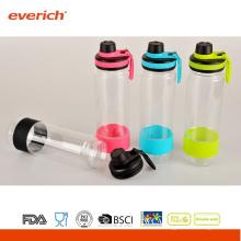 2015 Werbeartikel Kunststoff Wasserflasche mit breiten Mund und Sport Deckel